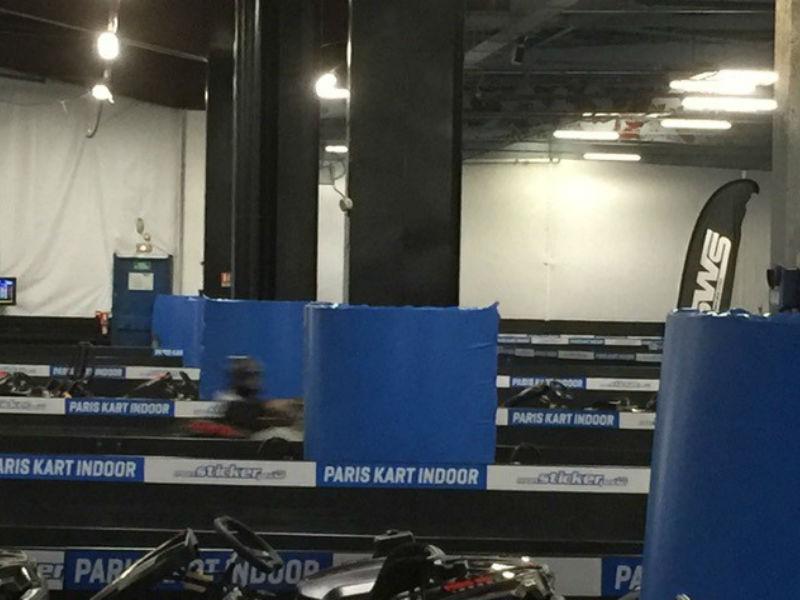 Protections piste de kart